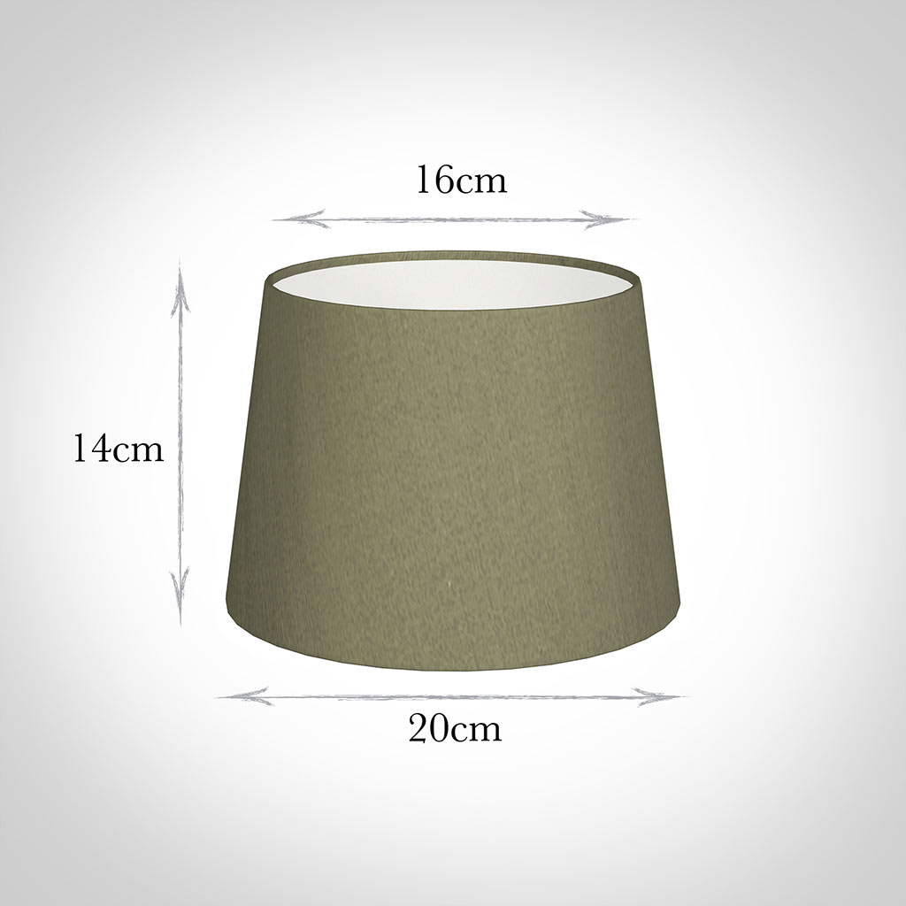 20cm Medium French Drum Shade in Watered Green Silk