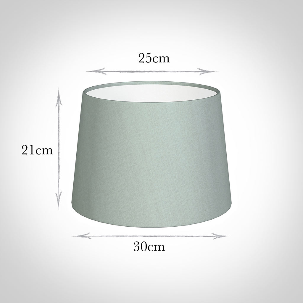 30cm Medium French Drum Shade in French Grey Silk