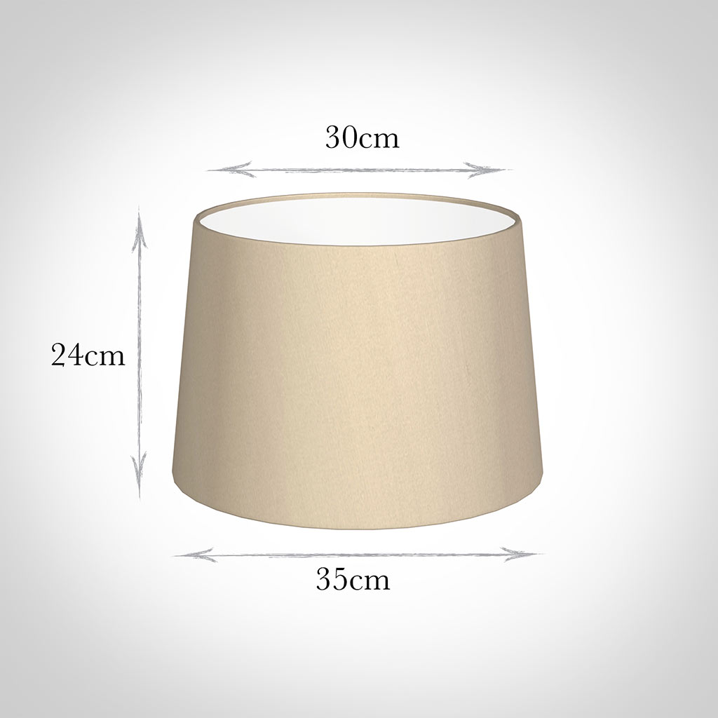 35cm Pendant Medium French Drum Shade in RoyalOyster Silk