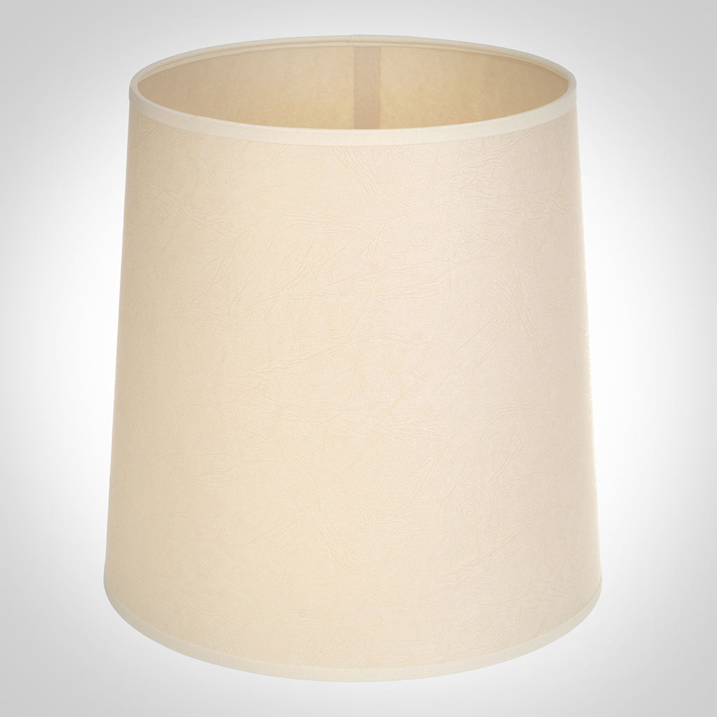 25cm Narrow French Drum Shade in Parchment withCream Trim