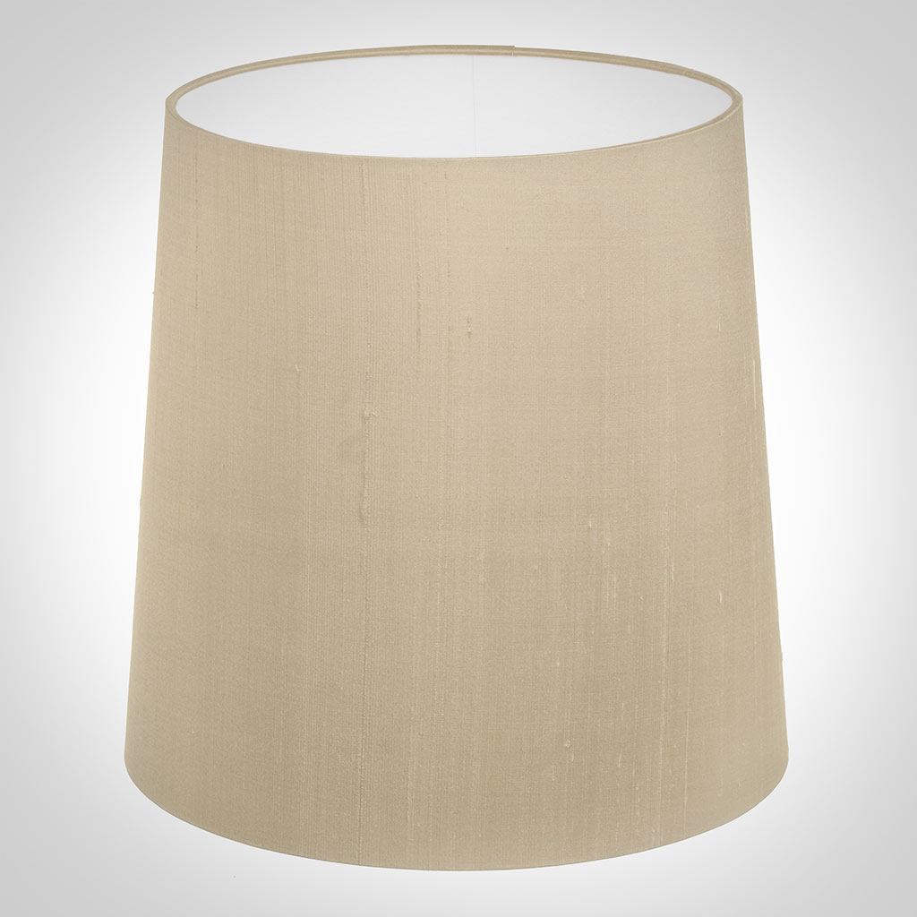 25cm Narrow French Drum Shade in Royal Oyster Silk
