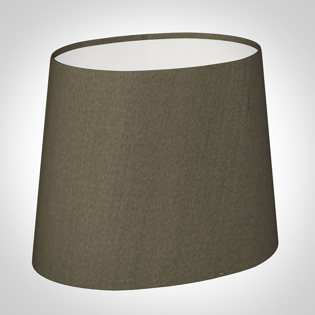 20cm Oval Lamp Shade Bronze Brown Silk Lampshades
