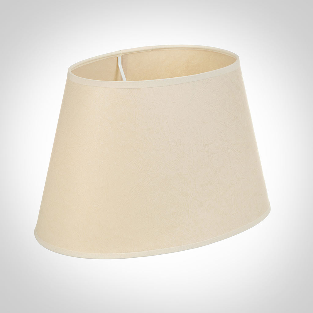 35cm Sloped Oval Shade in Parchment with CreamTrim
