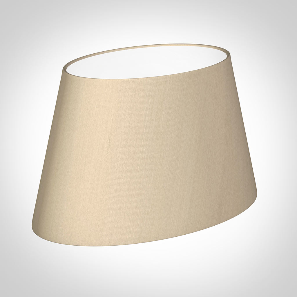 35cm Sloped Oval Shade in Royal Oyster Silk