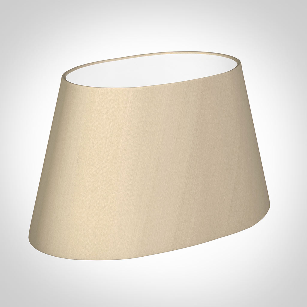 40cm Sloped Oval Shade in Royal Oyster Silk