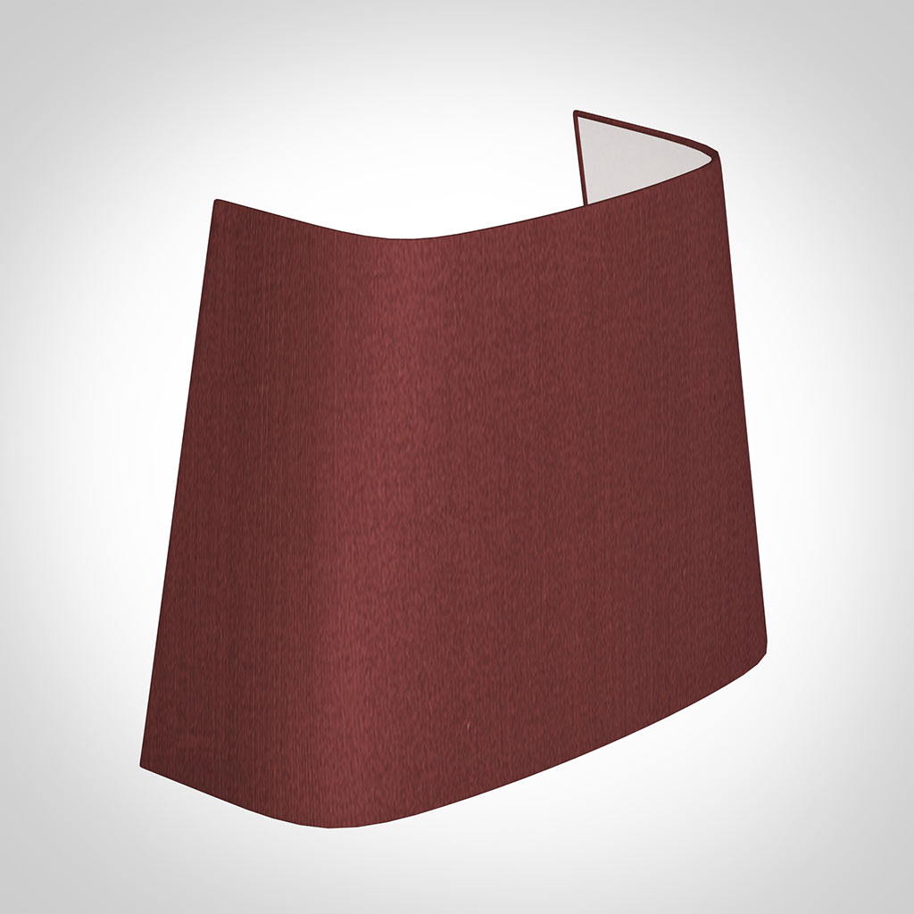 Penrose Half Shade in Antique Red Silk