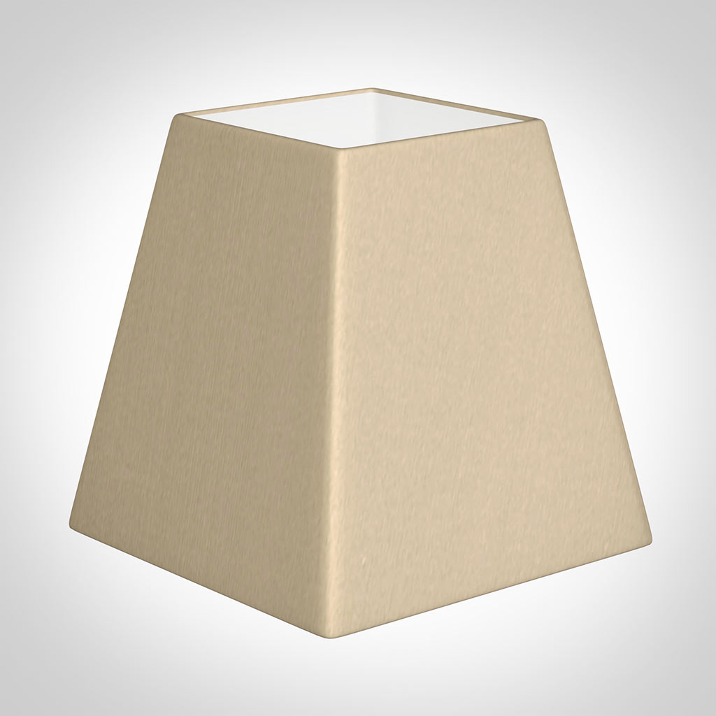 15cm Sloped Square Shade in Royal Oyster Silk