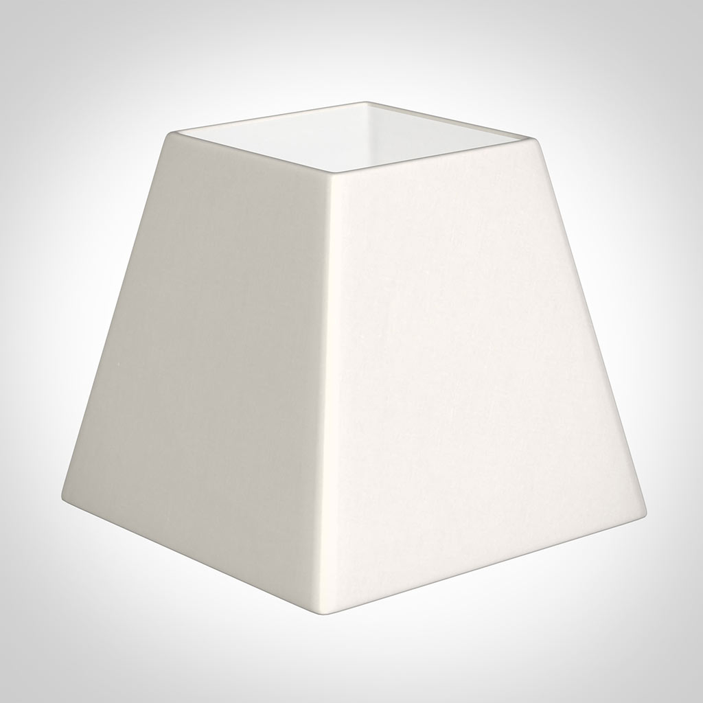 Picture of: 20cm Sloped Square Shade Cream Killowen Linen Lamp Shades