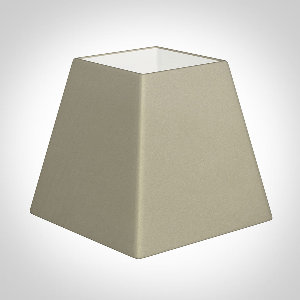 30cm Sloped Square Shade in Pale Smoke Satin