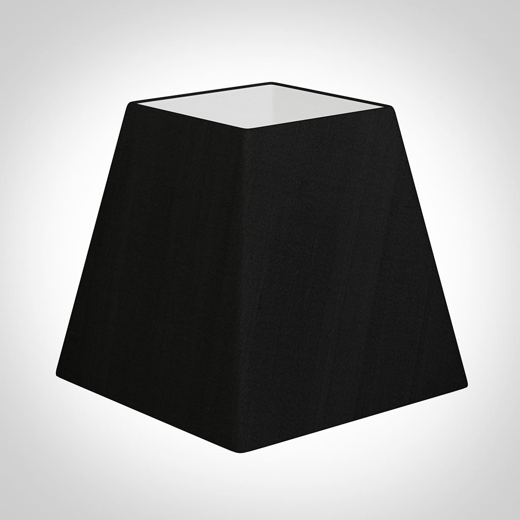 40cm Sloped Square Shade in Black Silk