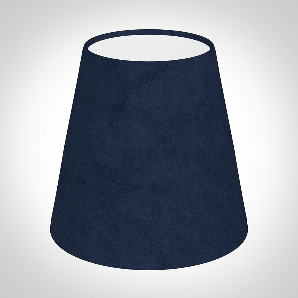 Tapered Candle Shade in Navy Blue Hunstanton Velvet