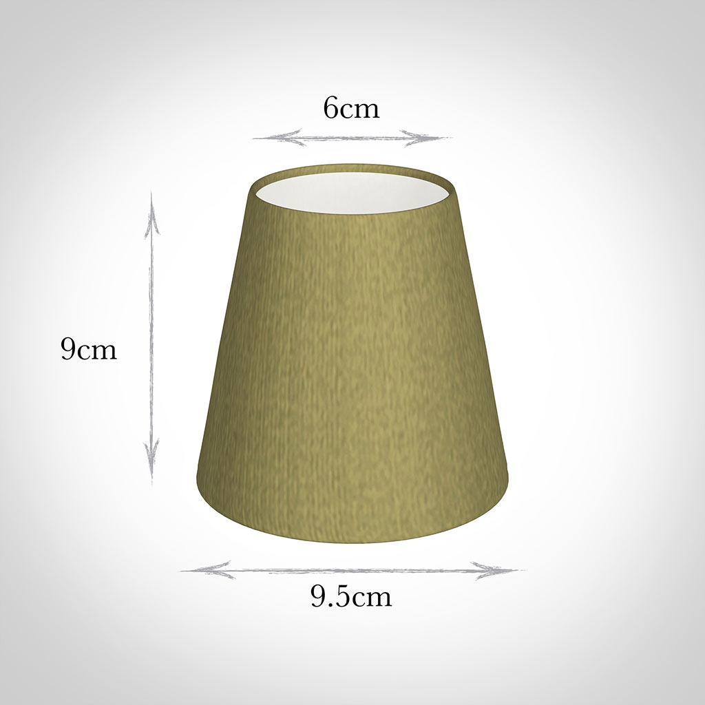 Tapered Candle Shade in Antique Gold Silk