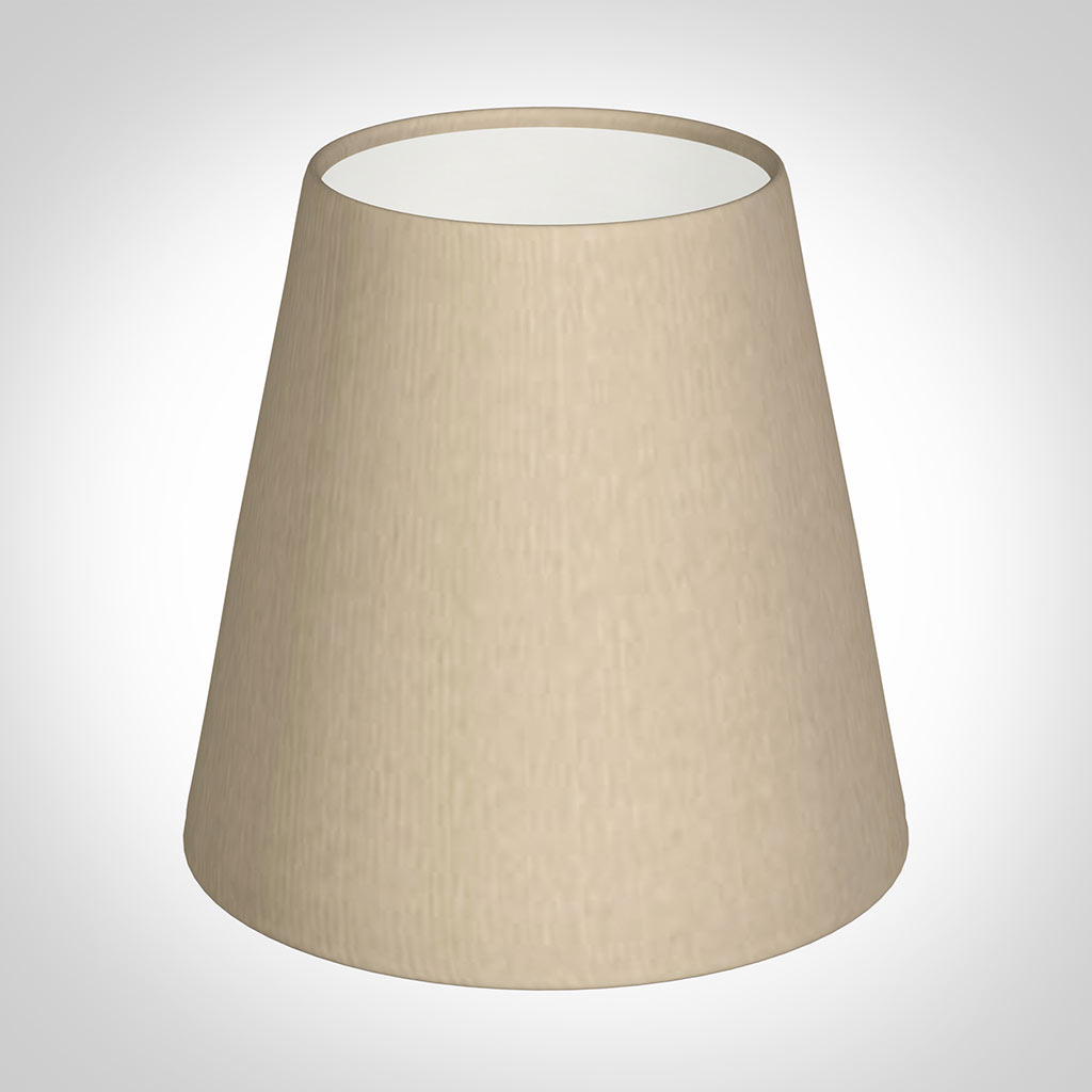 Tapered Candle Shade in Royal Oyster Silk