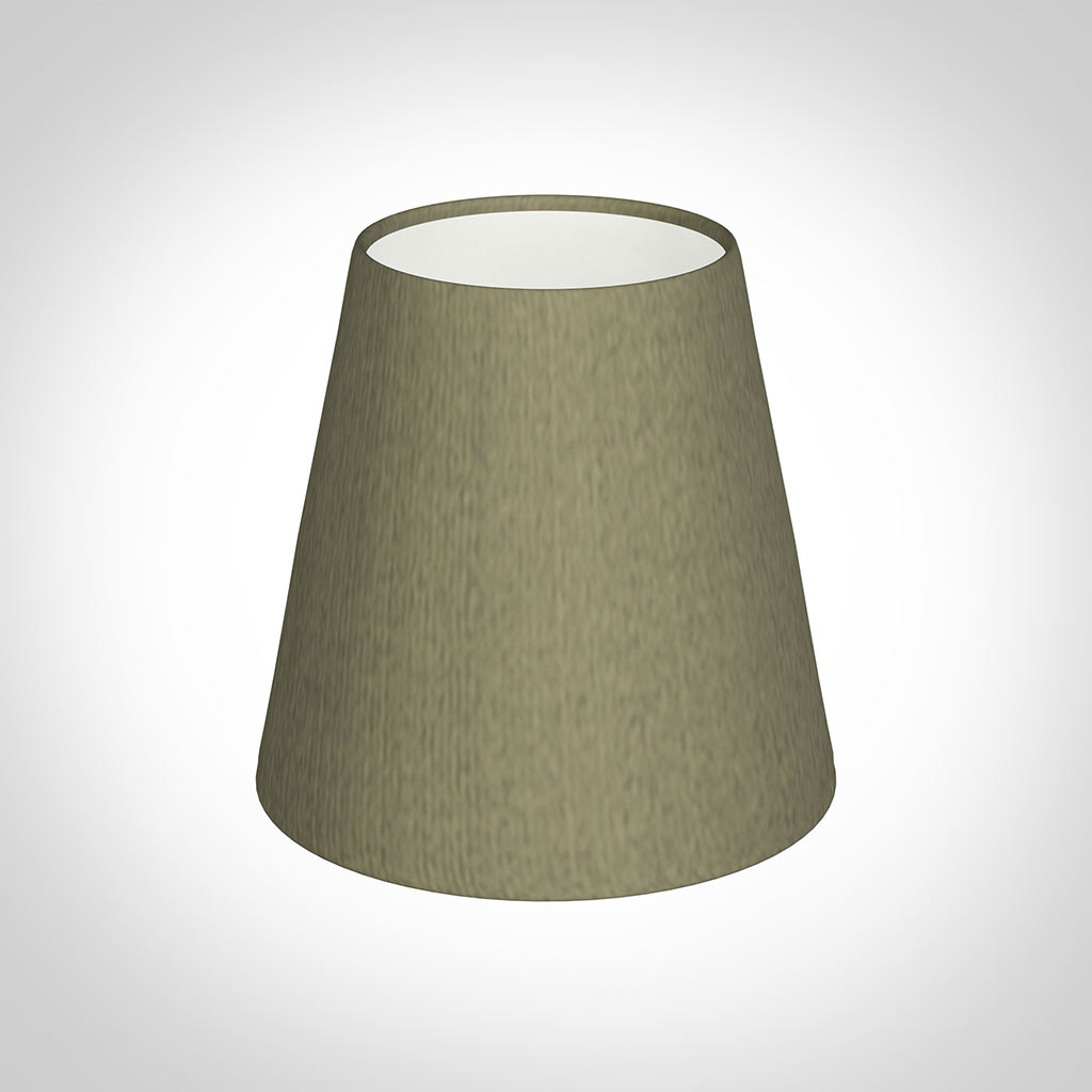Tapered Candle Shade in Watered Green Silk