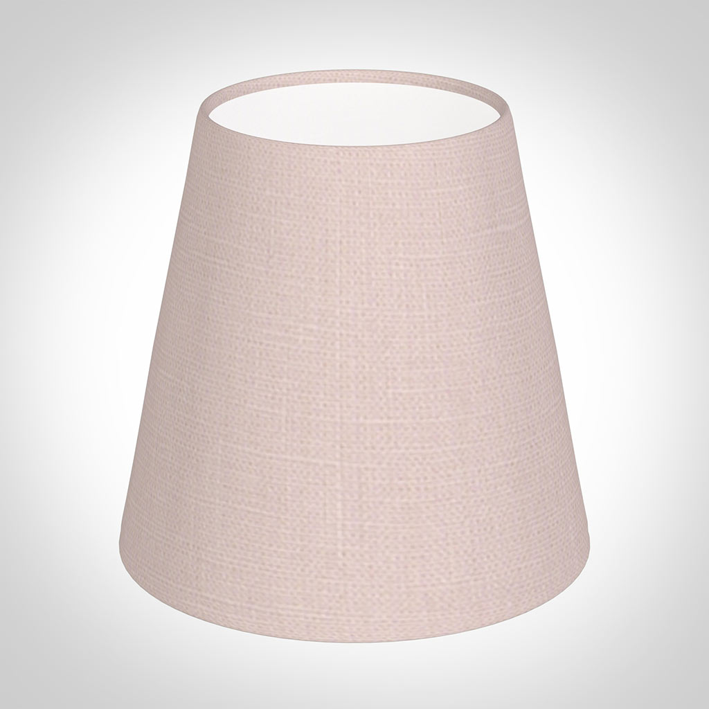 Tapered Candle Shade in Vintage Pink Waterford