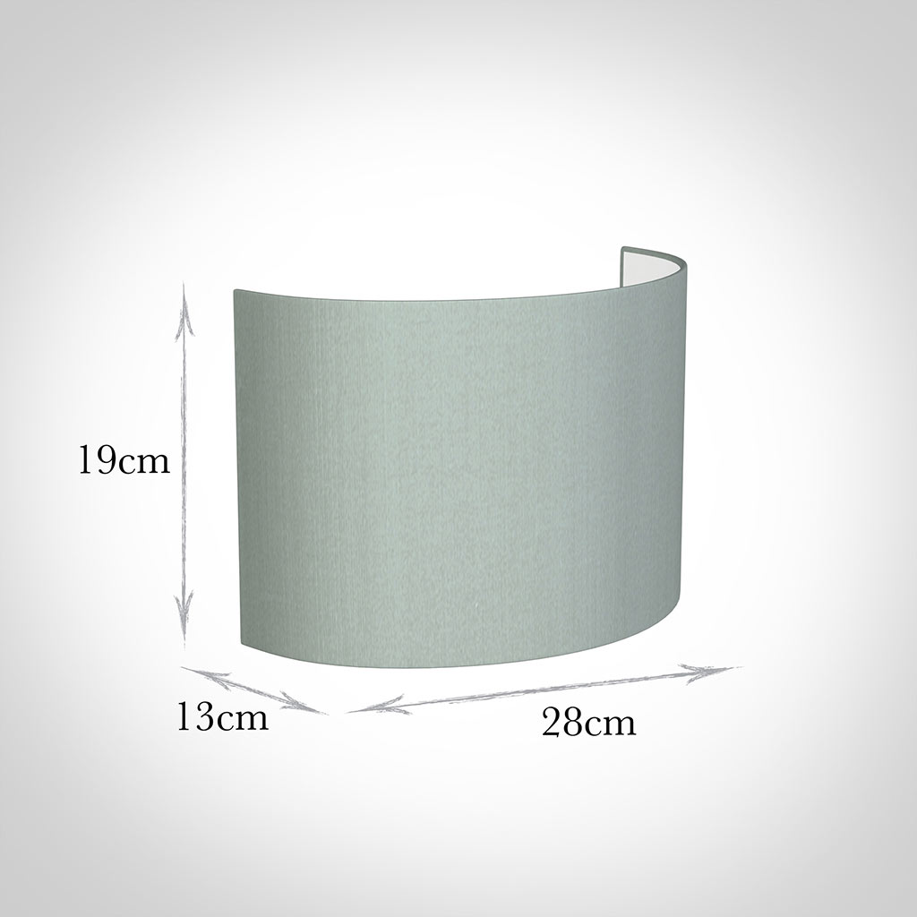 28cm Carlyle Half Shade in French Grey Silk
