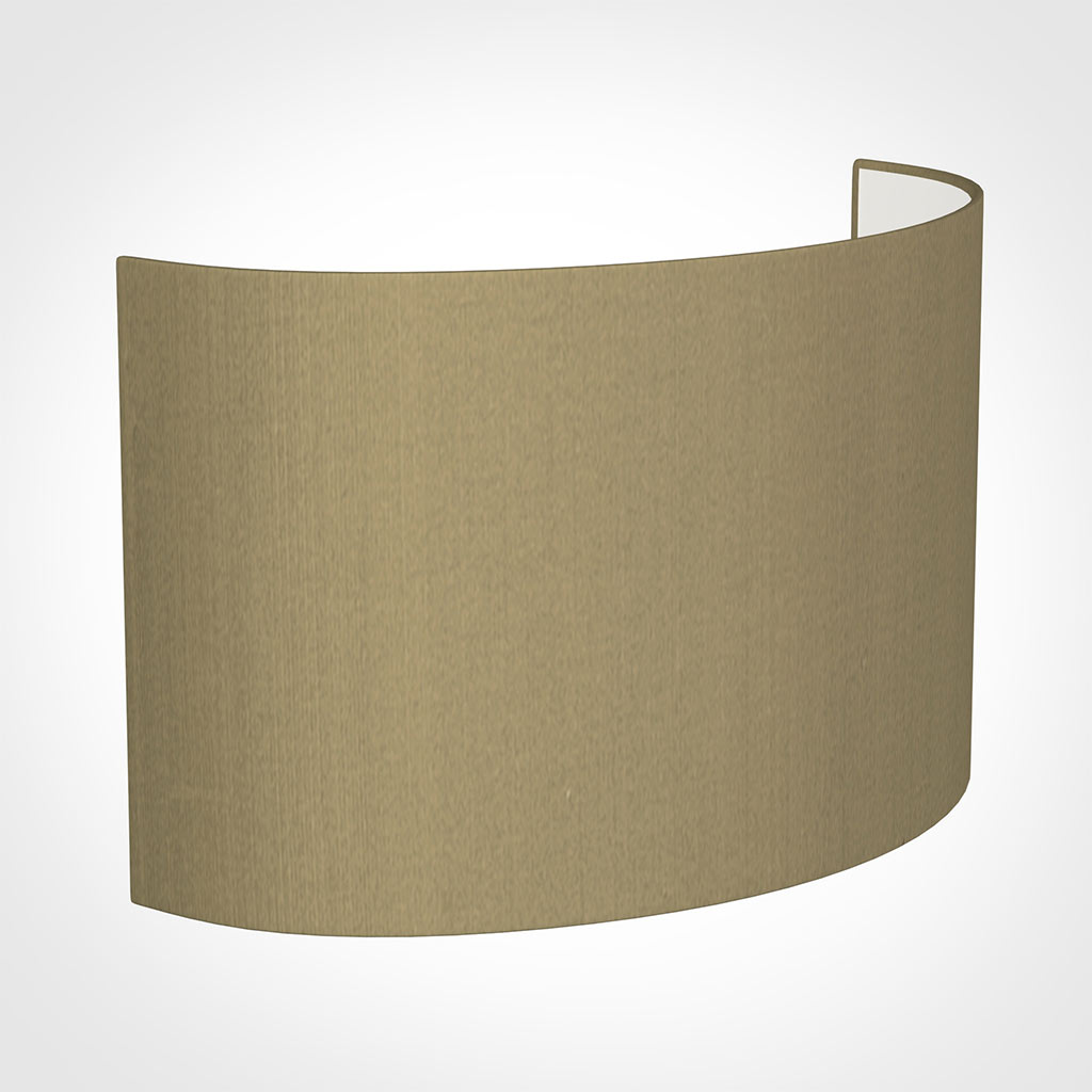 32cm Carlyle Half Shade in Oyster Faux Silk