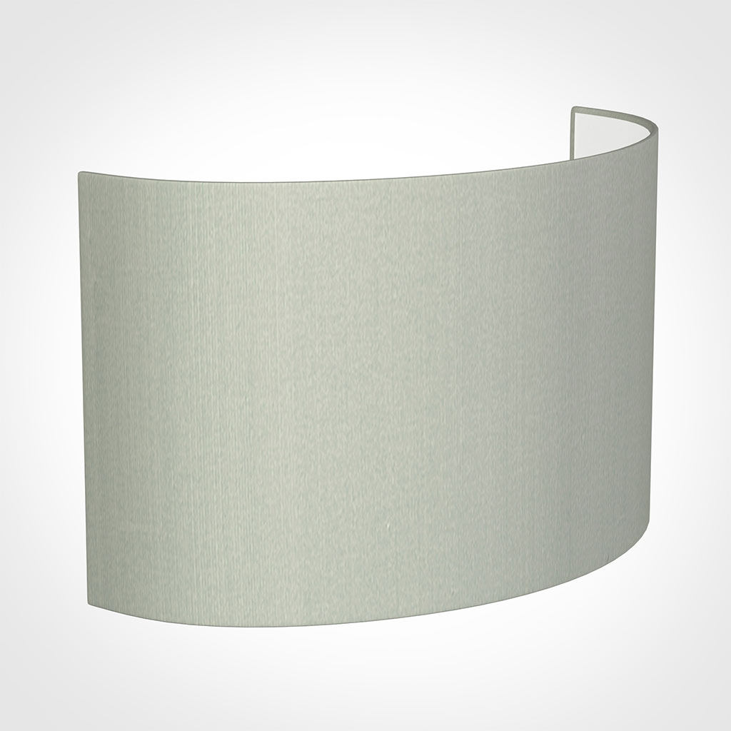 32cm Carlyle Half Shade in Soft Grey Faux Silk