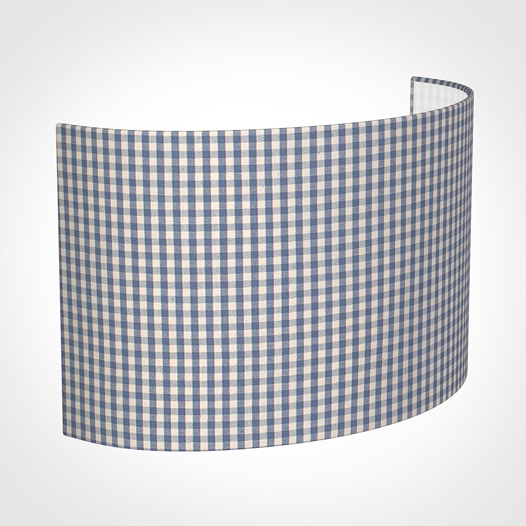 32cm Carlyle Half Shade in Blue Longford Gingham
