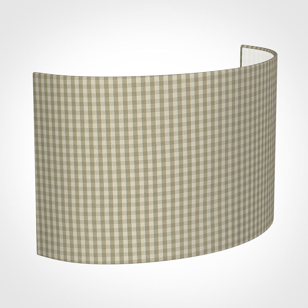 32cm Carlyle Half Shade in Natural Longford Gingham