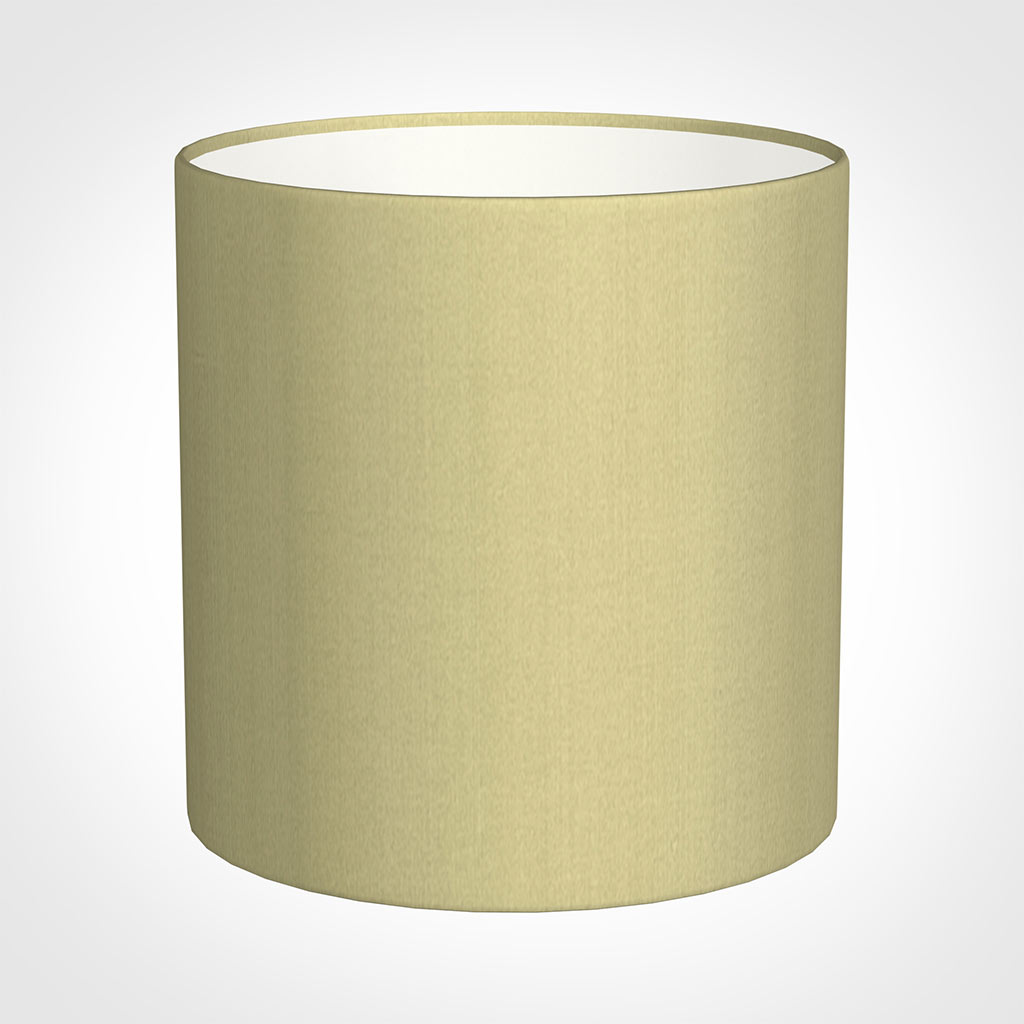 25cm Medium Cylinder Shade in Wheat Faux Silk