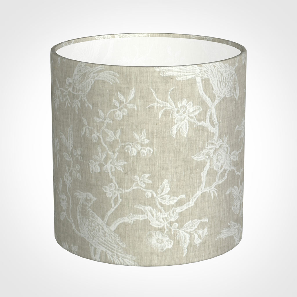 30cm Medium Cylinder Shade in White Isabelle