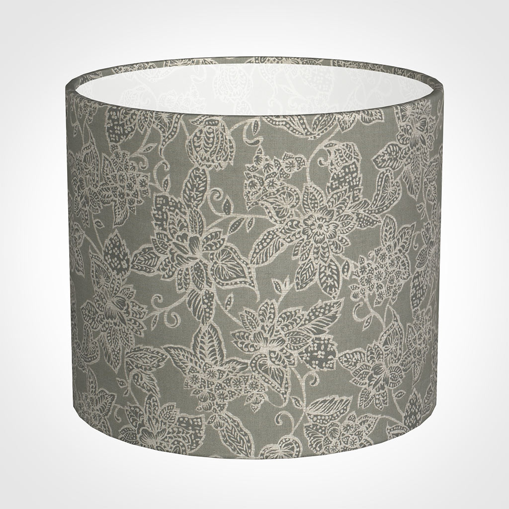 40cm Medium Cylinder Shade in Grey Cheveley