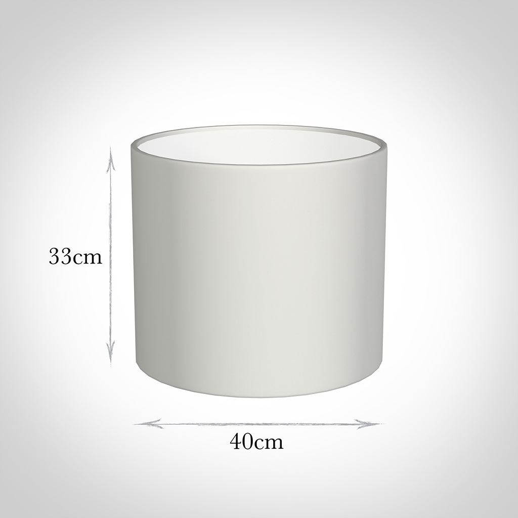 40cm Medium Cylinder Shade in White Killowen Linen