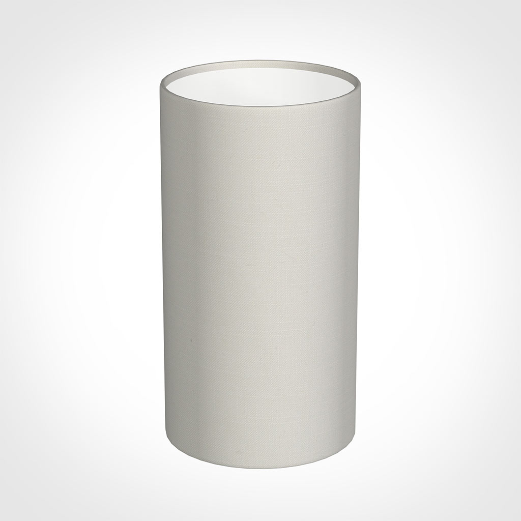 13cm Narrow Cylinder Shade in Off White Waterford Linen