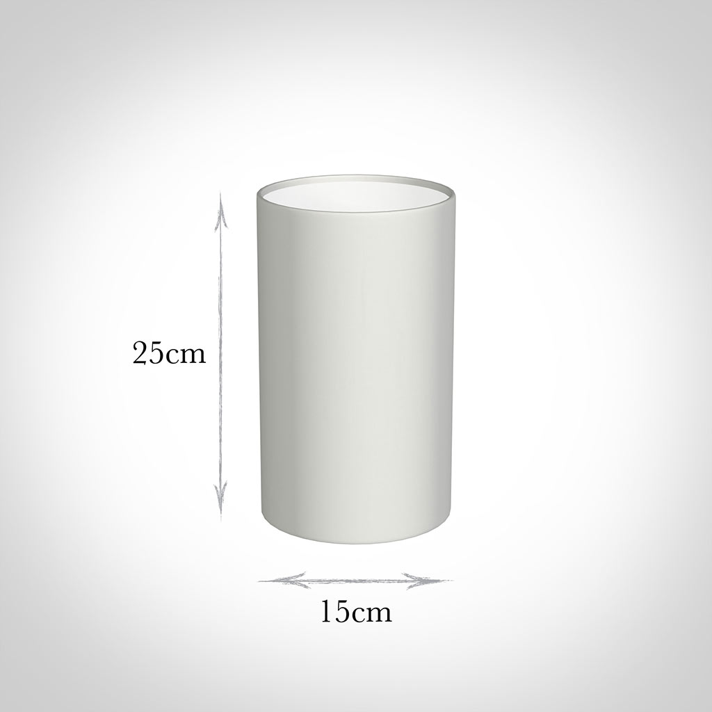 15cm Narrow Cylinder Shade in White KillowenLinen