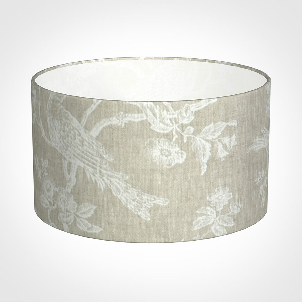 25cm Wide Cylinder Shade in White Isabelle