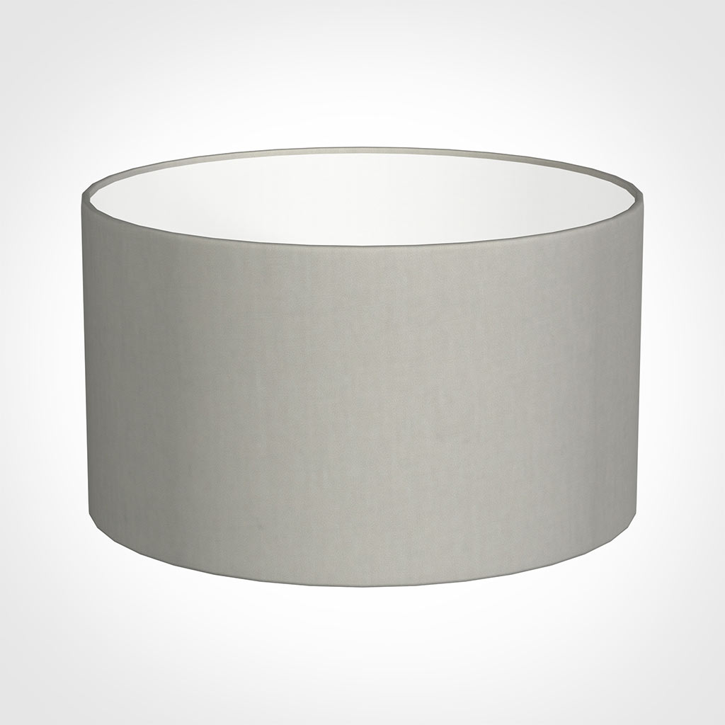 35cm Wide Cylinder Shade in Soft Grey Waterford Linen