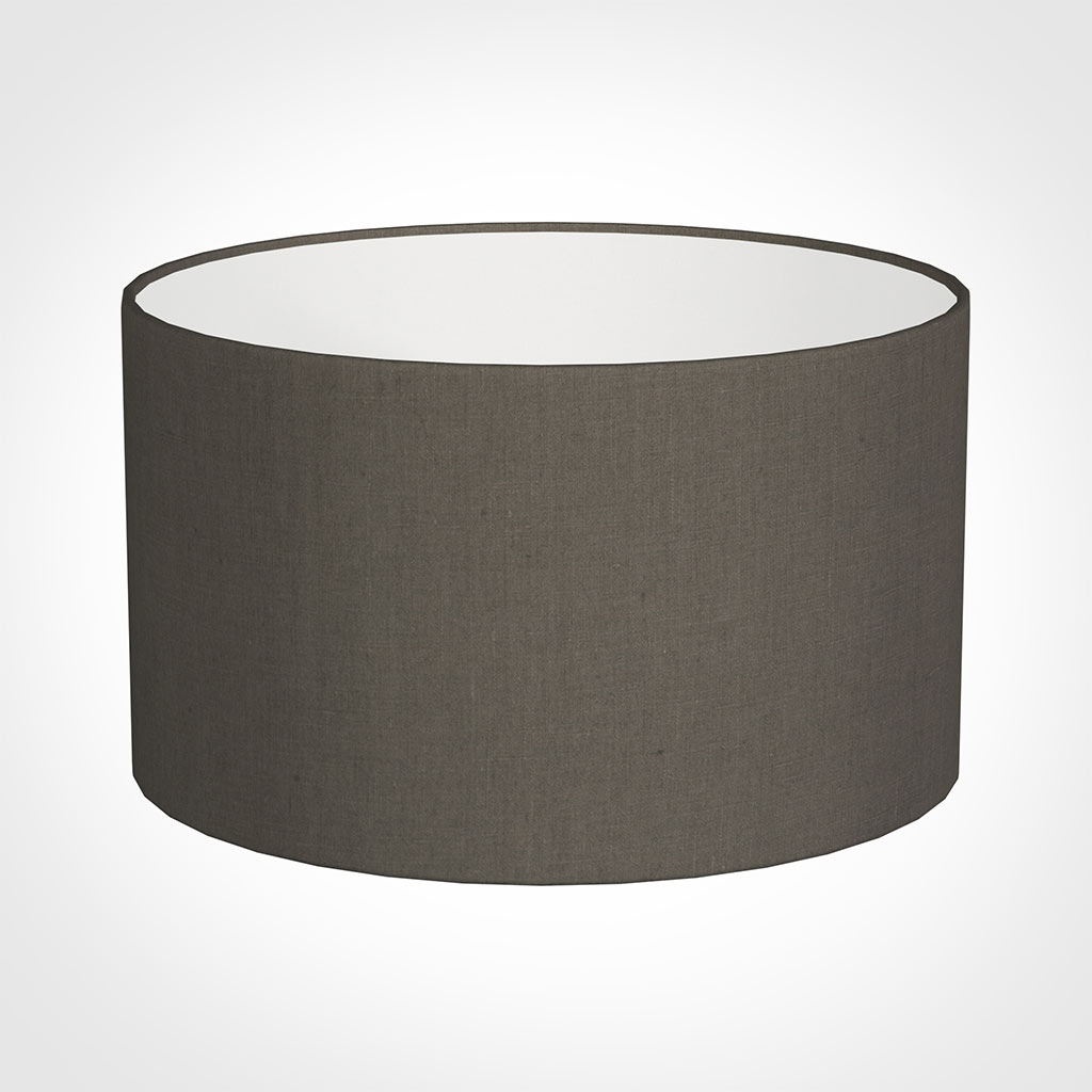 45cm Wide Cylinder Shade in Mouse Waterford Linen
