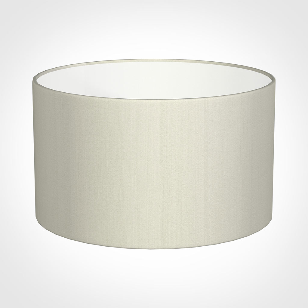 50cm Wide Cylinder Shade in Pearl Faux Silk