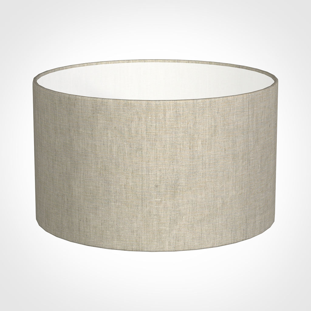 50cm Wide Cylinder Shade in Natural Isabelle