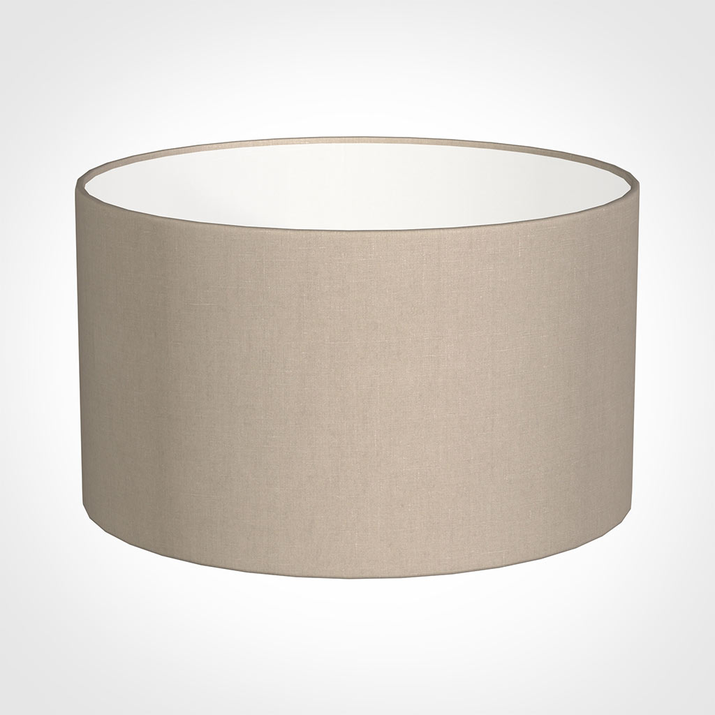 50cm Wide Cylinder Shade in Putty Killowen Linen