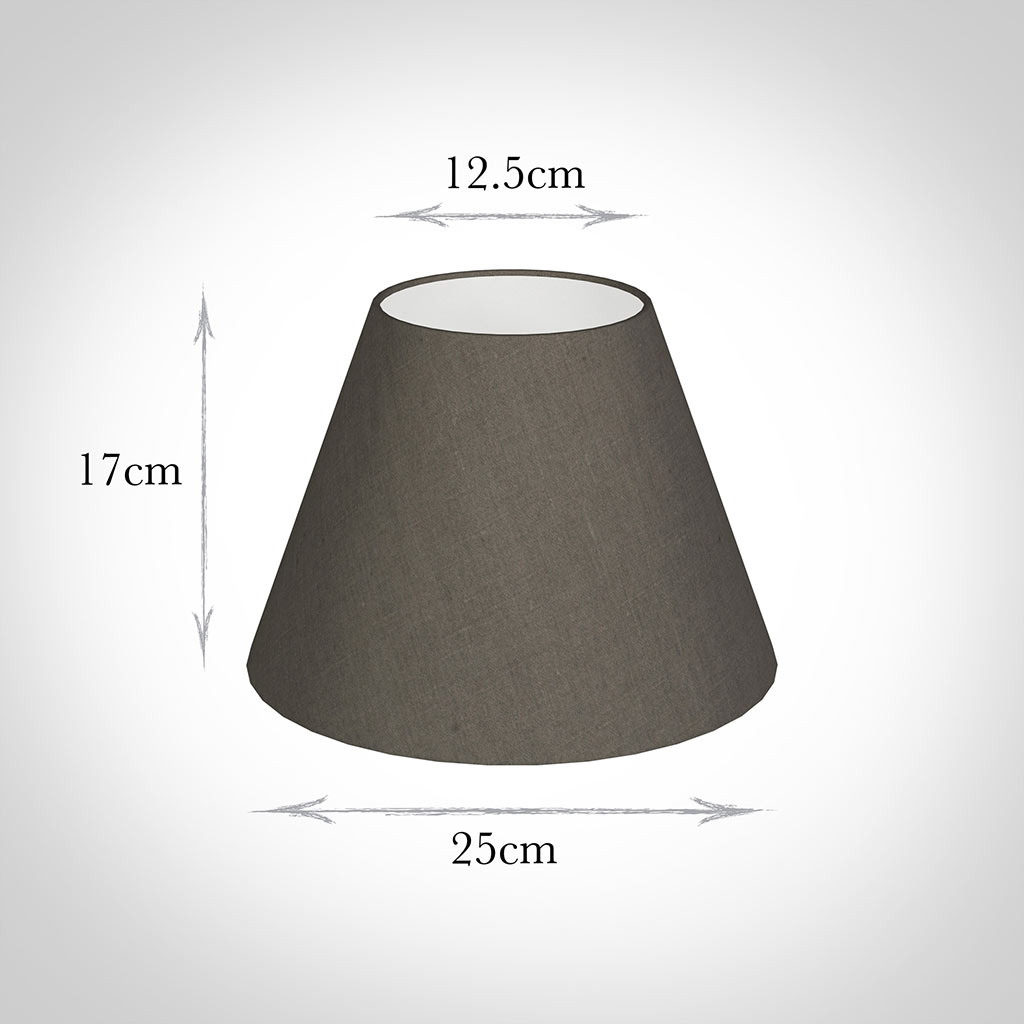 25cm Empire Shade in Mouse Waterford Linen