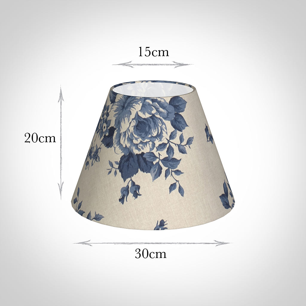 30cm Empire Shade in Blue Bloom