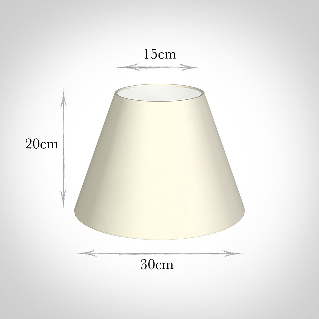 30cm Empire Shade in Cream Satin