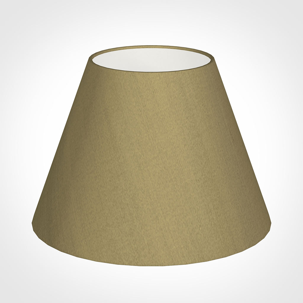 35cm Empire Shade in Dull Gold Faux Silk