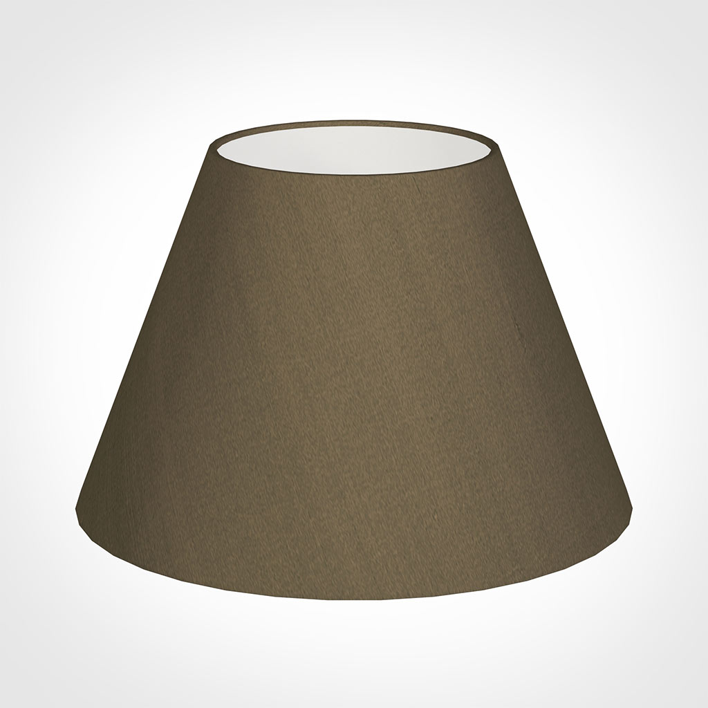 40cm Empire Shade in Bronze Faux Silk