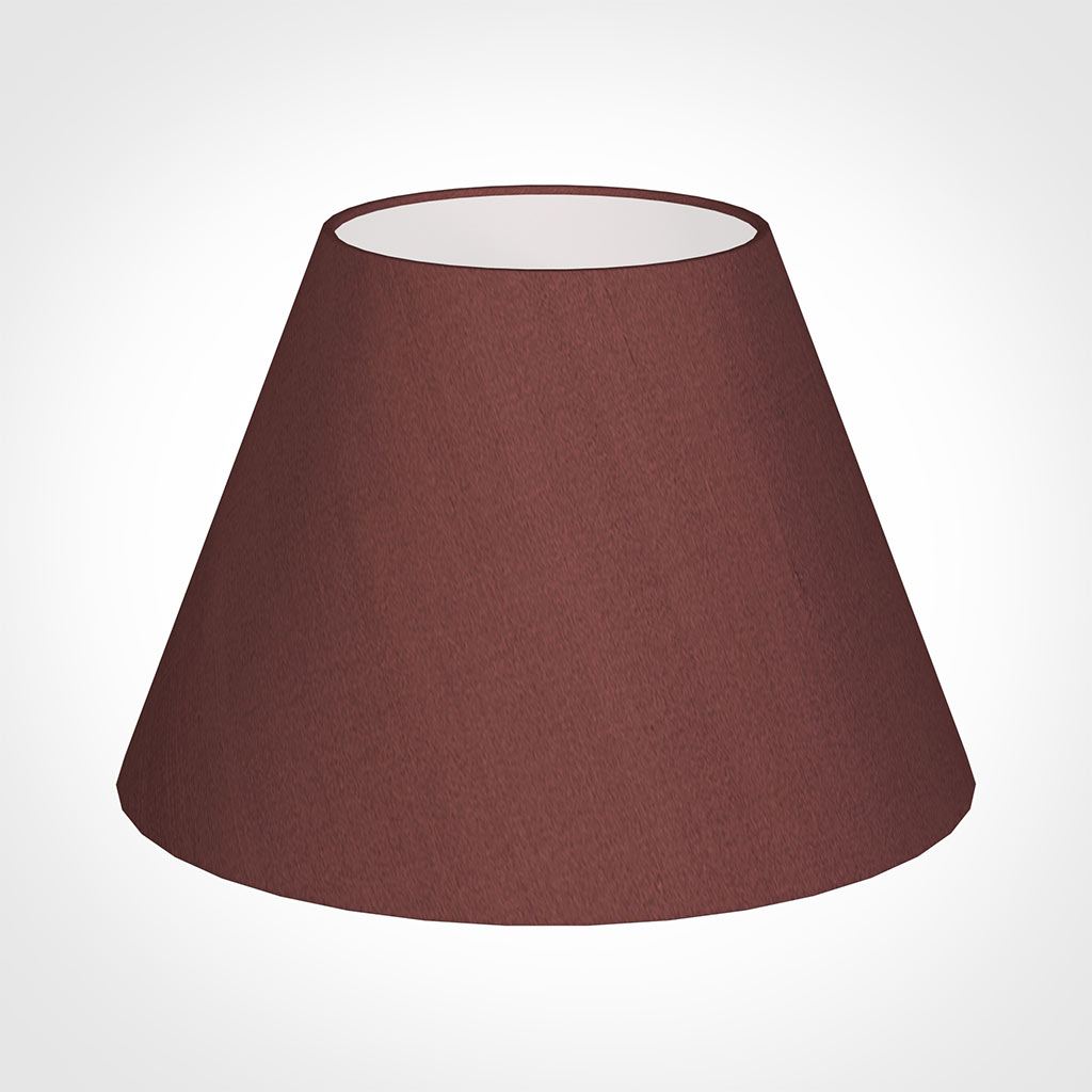 40cm Empire Shade in Old Red Faux Silk