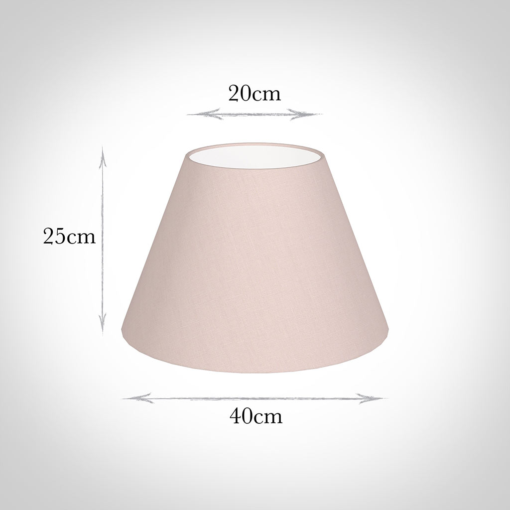 40cm Empire Shade in Vintage Pink Waterford Linen