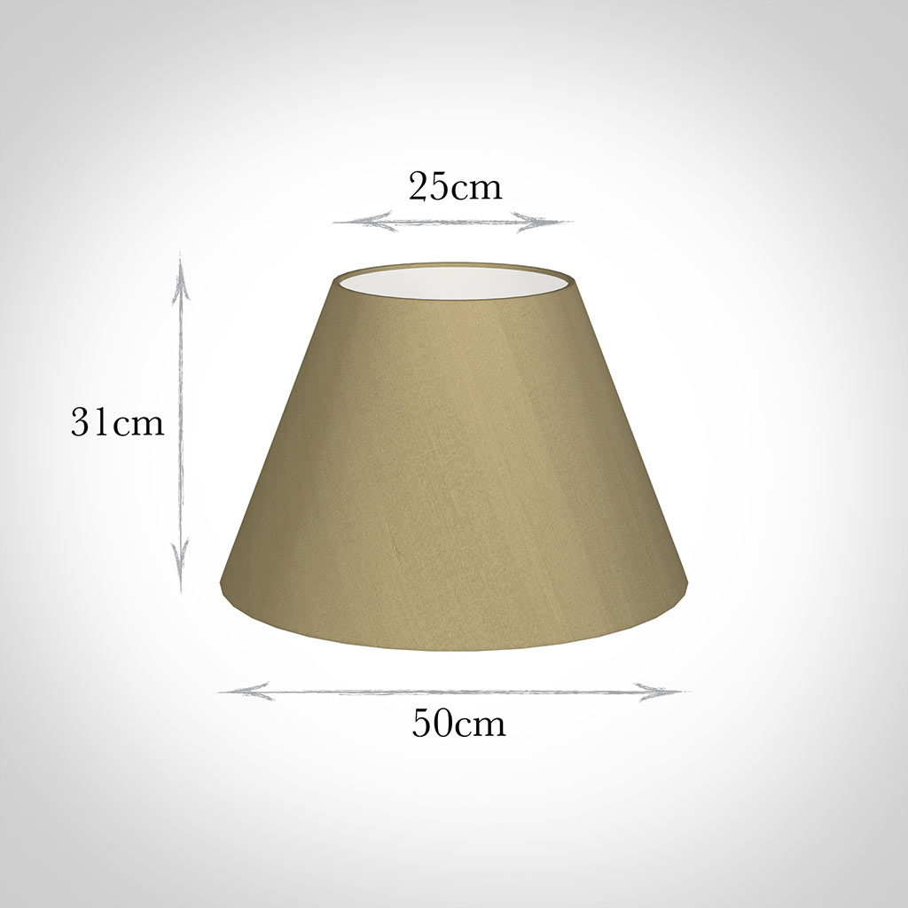 50cm Empire Shade in Oyster Faux Silk