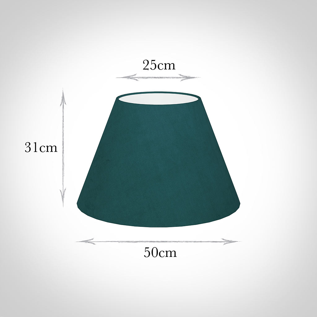 50cm Empire Shade in Teal Hunstanton Velvet