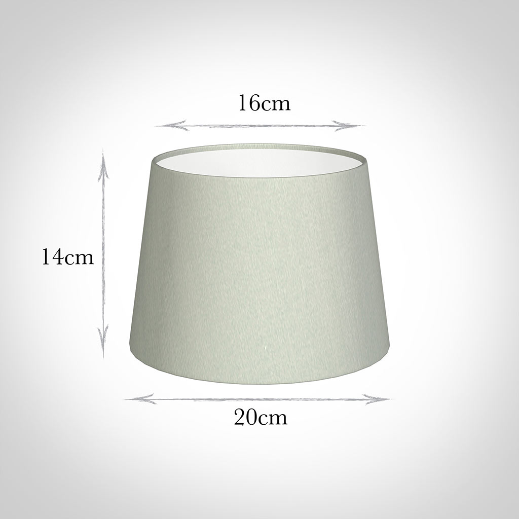 20cm Medium French Drum Shade in Soft Grey Faux Silk
