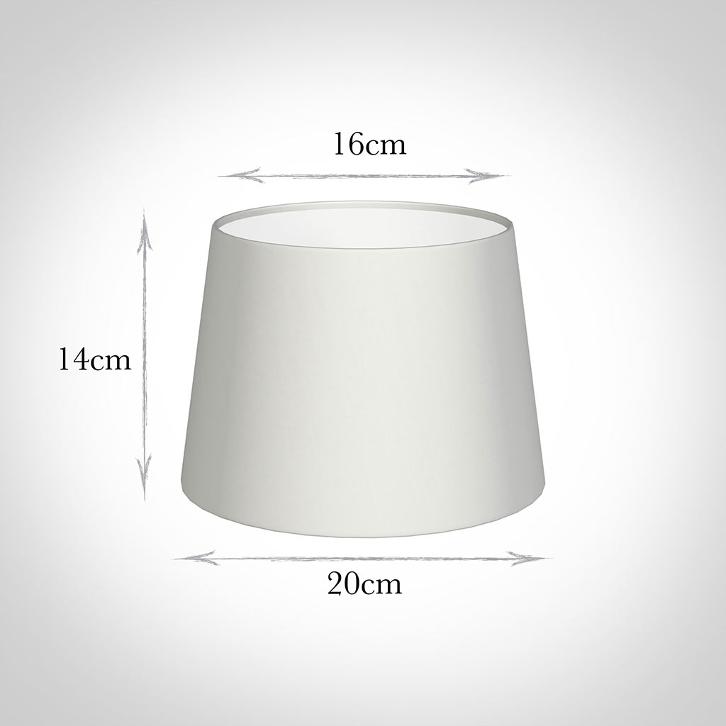 20cm Medium French Drum Shade in White Killowen Linen