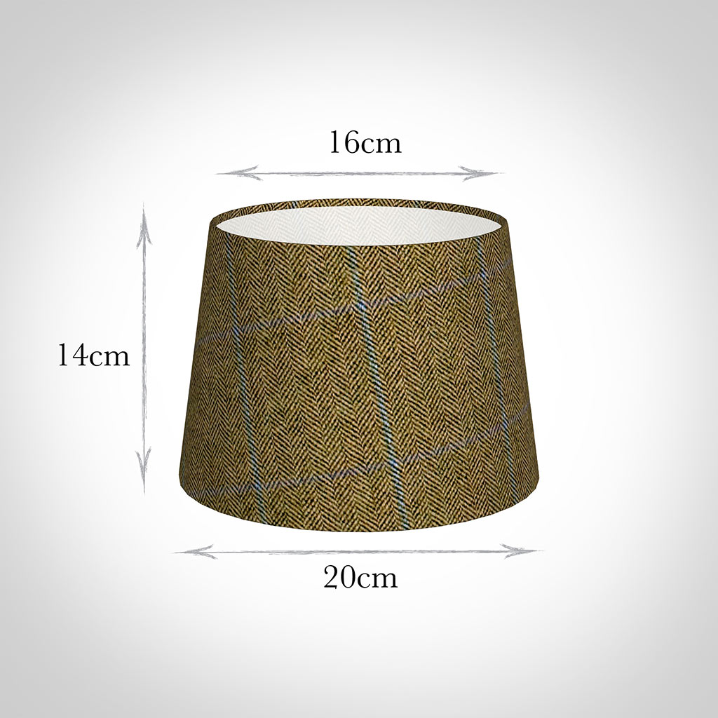 20cm Medium French Drum in Angus Check Lovat Wool