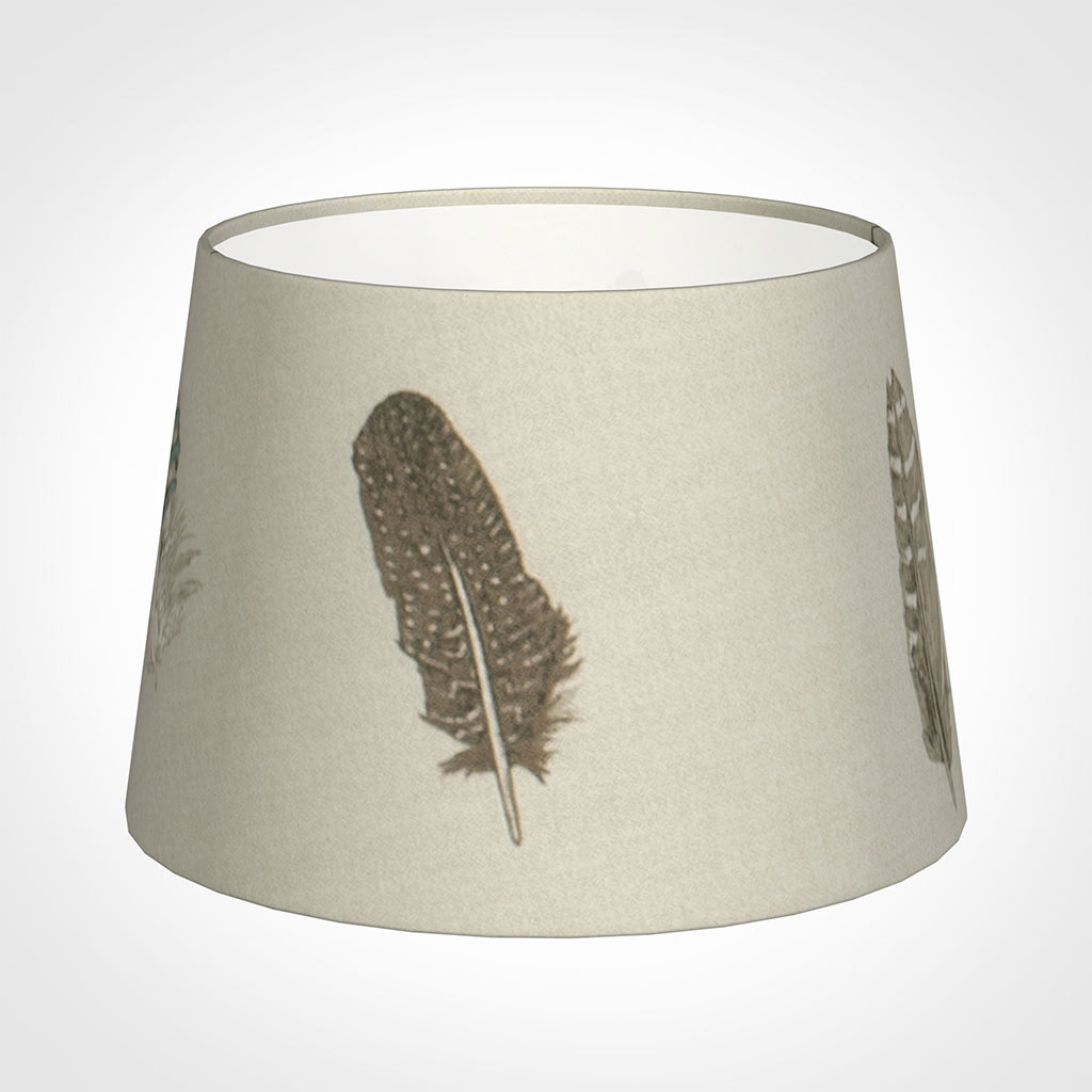 25cm Medium French Drum Shade in Stone Featherdown
