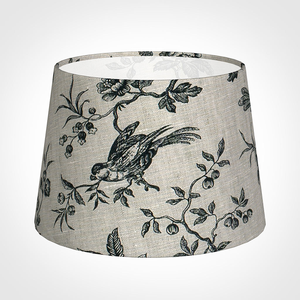 25cm Medium French Drum Shade in Black Isabelle
